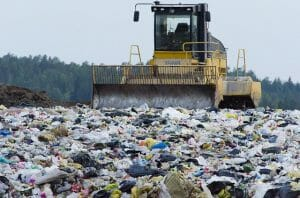 Picture of plastic in landfill
