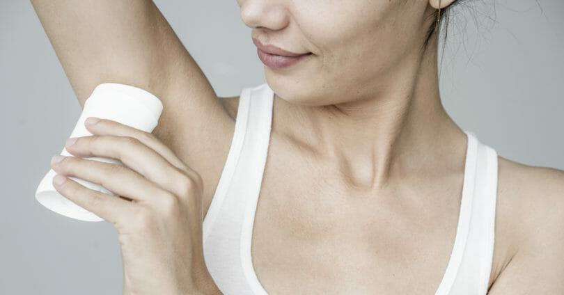 women applying All-Natural Deodorant