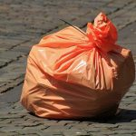 orange compostable trash bag